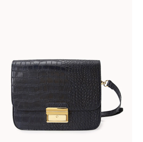 Forever Faux Croc Crossbody Purse