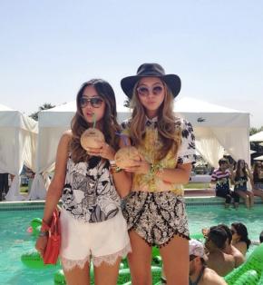 Fashionista Sister Duo AtCoachella