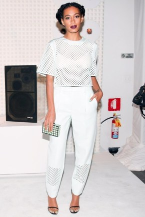 Solange In All White!