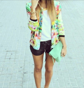 Floral x Leather!