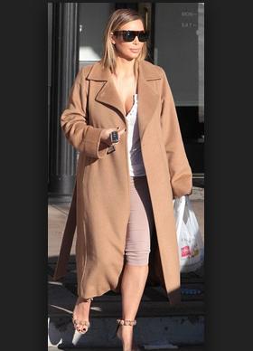 Get Kim Kardashians Camel Coat Look For Under $50Dollars!
