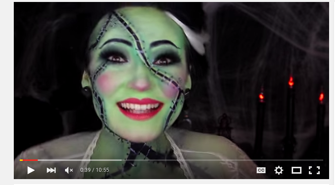Bride of Frankenstein Halloween Makeup Tutorial! |